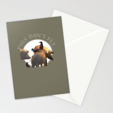 Pigs Don't Fly Stationery Cards