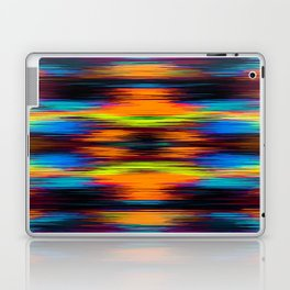 vintage psychedelic geometric abstract pattern in orange brown blue yellow Laptop & iPad Skin