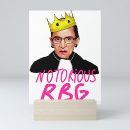 ruth bader ginsburg notorious rbg justice supreme court usa scotus Mini Art Print