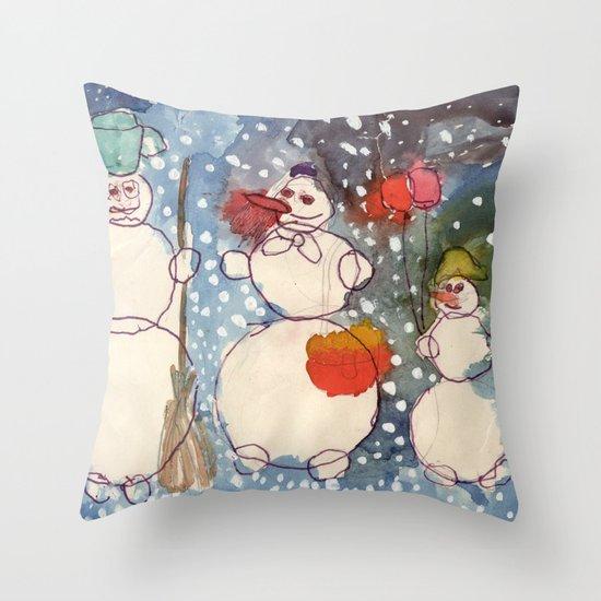 Frozen Family Throw Pillow