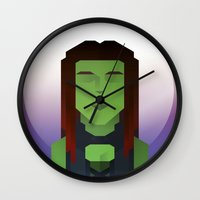 guardians of the galaxy Wall Clocks featuring Guardians of the Galaxy - Gamora by Casa del Kables