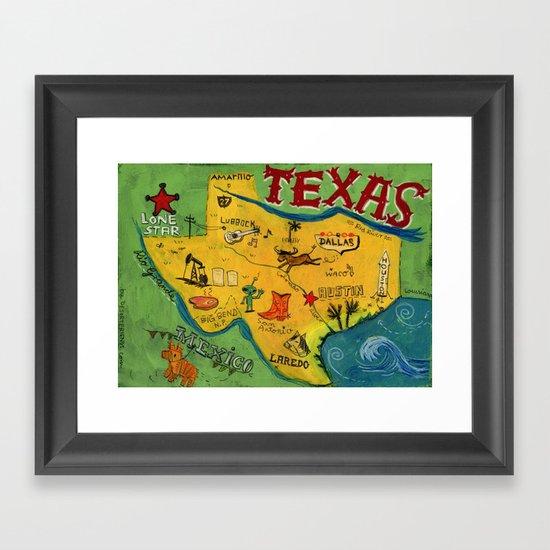 Postcard from Texas print Framed Art Print