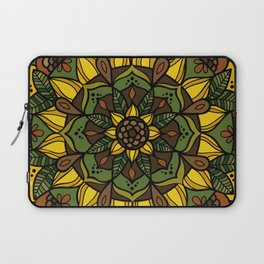 Sunflower Mandala Laptop Sleeve
