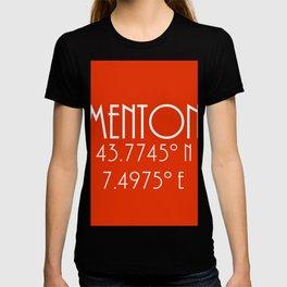Menton Latitude Longitude T-shirt