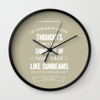 roald dahl Wall Clocks featuring Roald Dahl quote - stone by Dickens ink.
