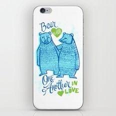 BEAR IN LOVE iPhone & iPod Skin