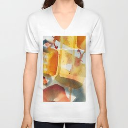 Abstract watercolor Unisex V-Neck