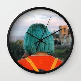 Blue Hair Japan Girl - Florence Wall Clock