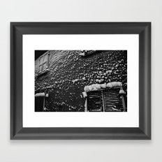 PRETTY PLEASE WITH SNOW ON TOP Framed Art Print