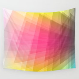 YELLOW AND PINK Abstract Art Wall Tapestry