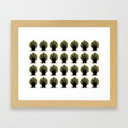 Changing tree Framed Art Print