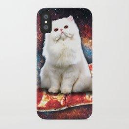 Space cat pizza iPhone Case