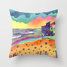 Stormy Turns Throw Pillow