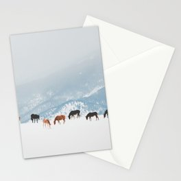 Winter Pastures Stationery Cards