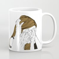 introvert Mugs featuring Introvert 8 by Heidi Banford