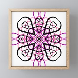 PINK SACRED GEOMETRY Framed Mini Art Print