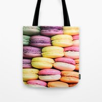 macaroons Tote Bags featuring Macaroons by lescapricesdefilles