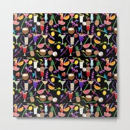 Cocktail party pattern Metal Print