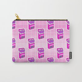 Loveboro cigarette packs pattern / girly stickers / pink grid Carry-All Pouch