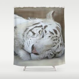 My White Tiger Shower Curtain