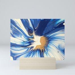 Pthalo Blue Spin Mini Art Print