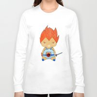 thundercats Long Sleeve T-shirts featuring A Boy - Lion-O (Thundercats) by Christophe Chiozzi