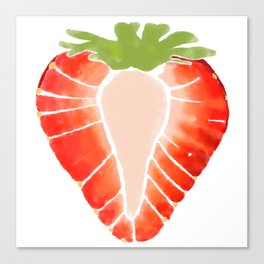 Strawberry Secret Canvas Print