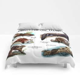 Otters of the World Comforters