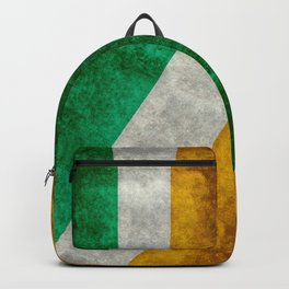 Republic of Ireland Flag, Vintage grungy Backpack
