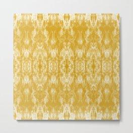 Golden Tie-Dye / Sunshine Abstraction Metal Print