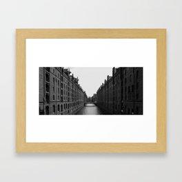 Hamburg Speicherstadt Framed Art Print