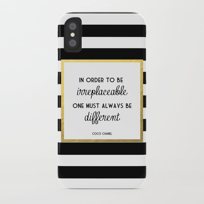 Coco Gold Irreplaceable Fashion Quote iPhone Case