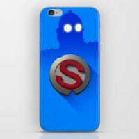 iron giant iPhone & iPod Skins featuring iron giant by designoMatt