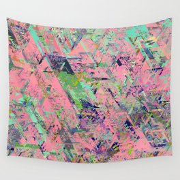 Mirror City Pink Wall Tapestry