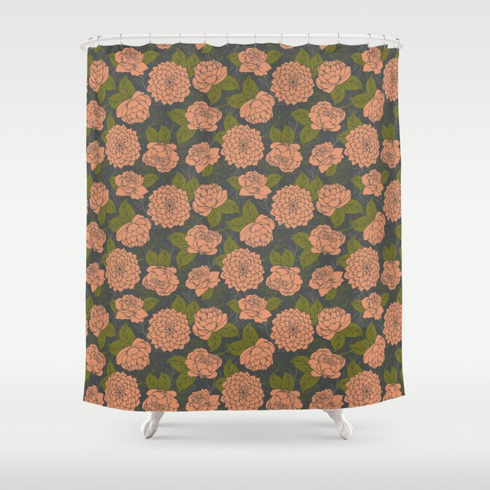 Floral Pattern In Coral