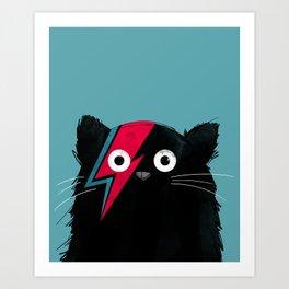 Cat Bowie Art Print
