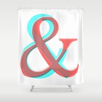 band Shower Curtains featuring AMPERSAND BAND by CHIN CHIN Design