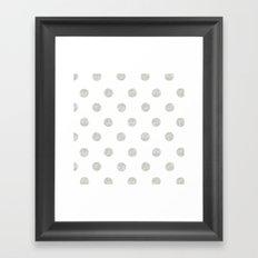 Grey Dots Framed Art Print