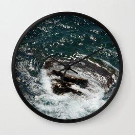 Rock in the Sea Wall Clock