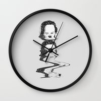 childish gambino Wall Clocks featuring Childish by Solveig Lawitzke
