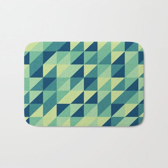 turquoise pattern Bath Mat