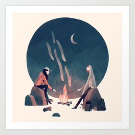 Happy Camping Art Print