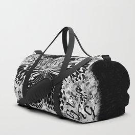 butterfly beautiful strong free splatter watercolor black negative Duffle Bag
