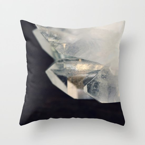 Crystal and Clear Throw Pillow