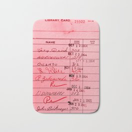 Library Card 23322 Pink Bath Mat