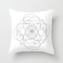Fibonacci Geometric Mandala Throw Pillow