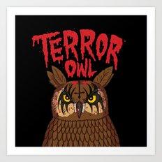 Terror Owl Art Print