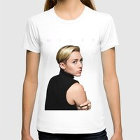 miley cyrus T-shirts featuring Miley Cyrus  by Shaina