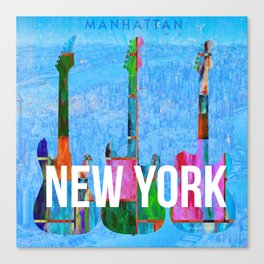 New York Music Scene Canvas Print