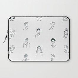 Sketchy People   Pattern Art Laptop Sleeve